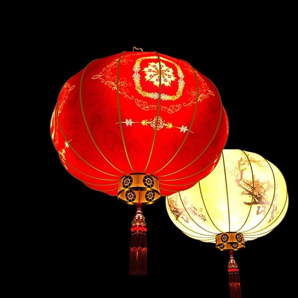 3d chinese red