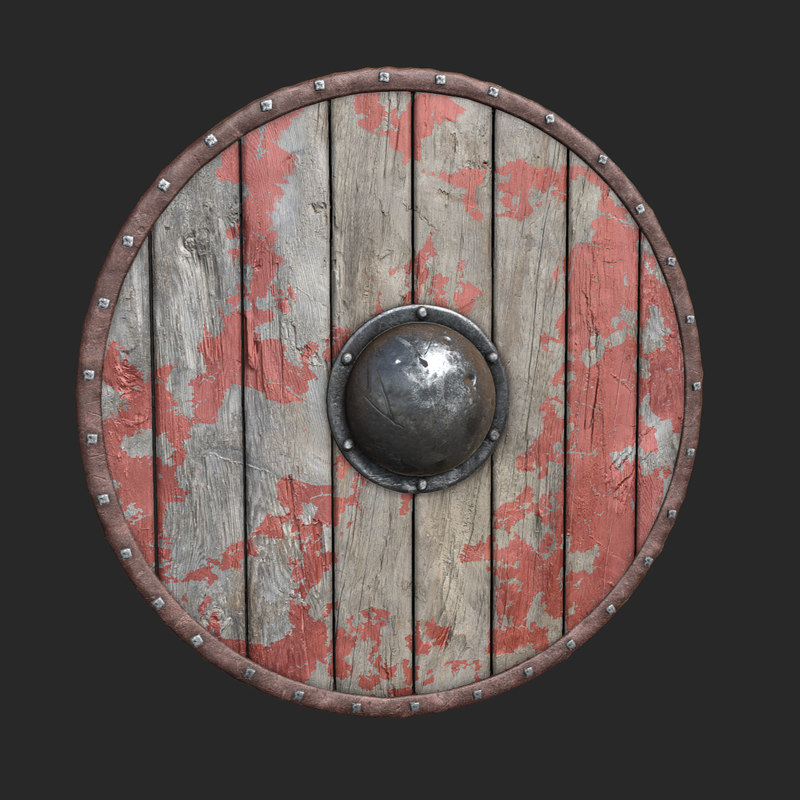 3d viking shield gokstad