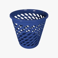 3d model waste basket wastebasket