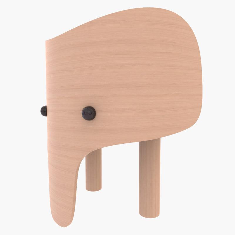 elephant chair design 3d c4d
