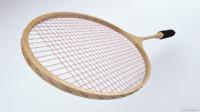 3d rackets badminton model