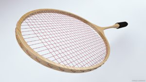 3d rackets badminton model