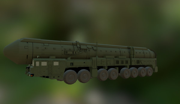 3d russian nuclear weapon yars model