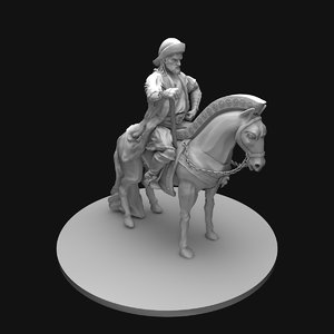 3ds genghis khan statue