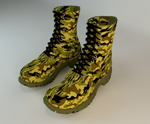 boot army 3d max