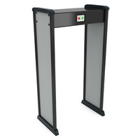 Metal detector scanner. Airport security gates with metal detectors. Walk through detector.
