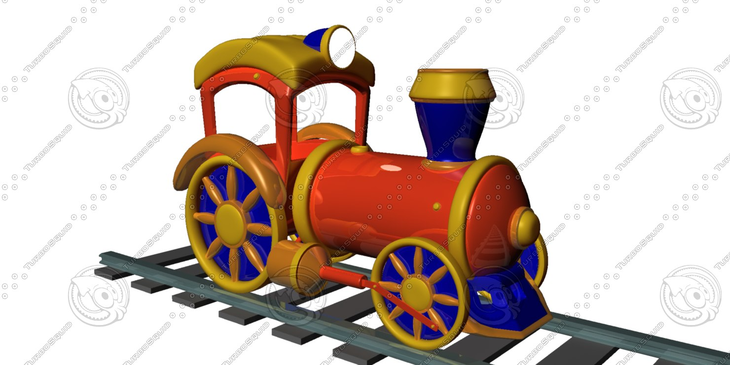 toy locomotive 3d ma