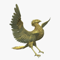 3d golden rooster model