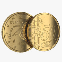 3ds spain euro coin 50