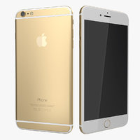 iphone 6 gold modeled obj