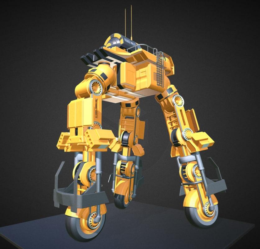 3d model of futuristic trike version 5