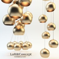 chandelier loft concept 3d model