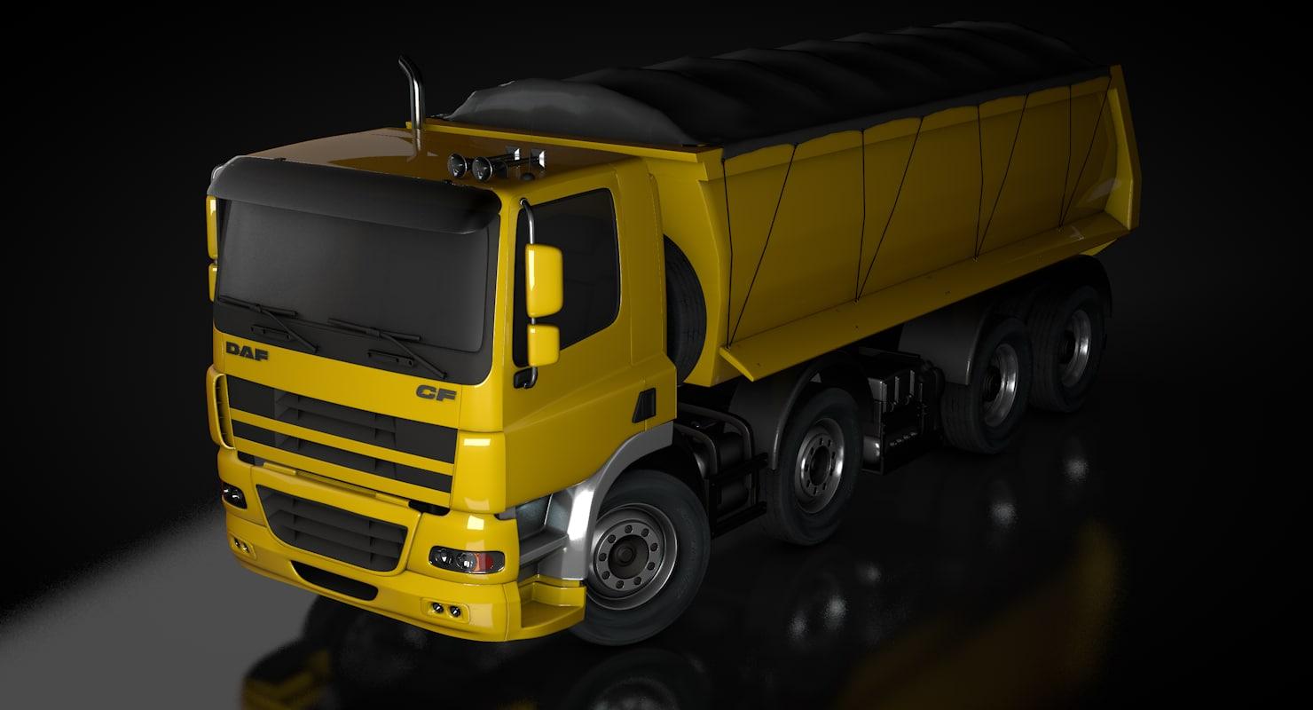 3d model daf cf truck