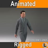 3d man rig model