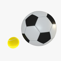 3d soccer ball tennis
