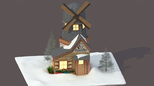3d max new england house