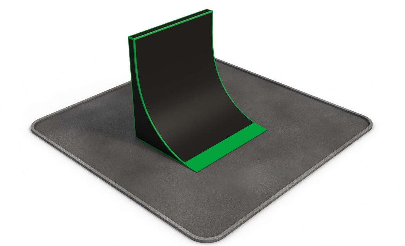 skateboarding s figure rampa c4d