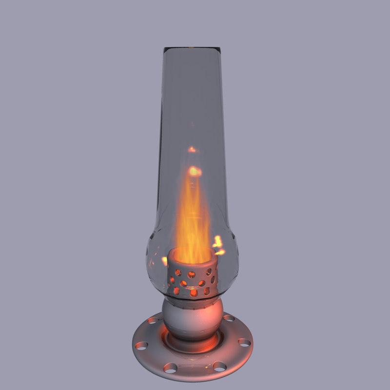 free modern oil lamp 3d model