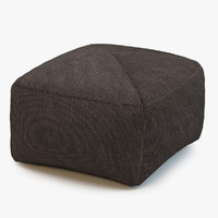 cane-line divine footstool 3d max