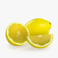 3d model lemon fruit realistic