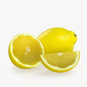 lemon fruit obj