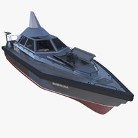 stealth patrol boat interceptor 3d model