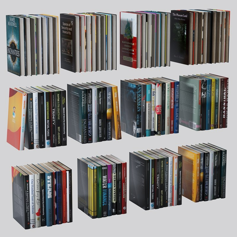 books set ue4 ready 3d model