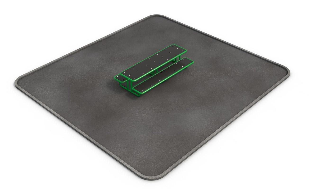 skate table park 3d model