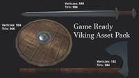 3d asset viking sword shield