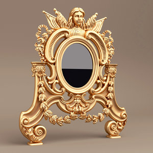 3d antique mirror