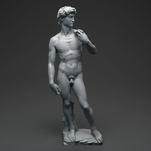 david statue michelangelo 3d obj