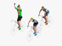 racing cyclists 3d 3ds