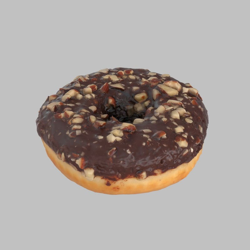 donut chocolate frosting 3d model