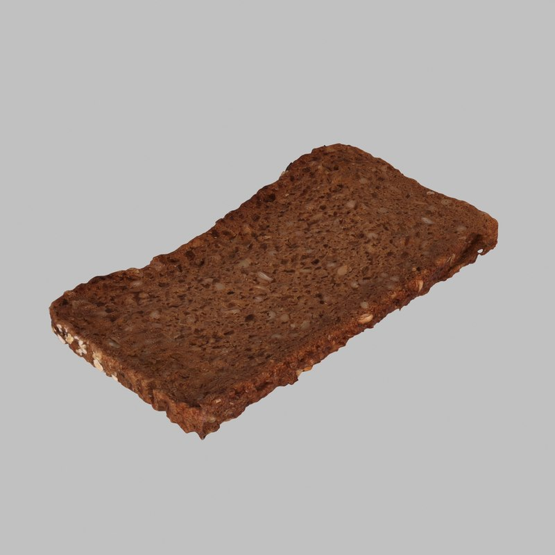 max photoreal cereal bread