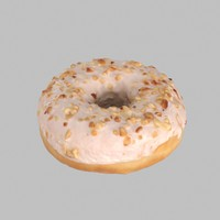 donut chocolate 3d model