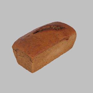 3d model of bread rye