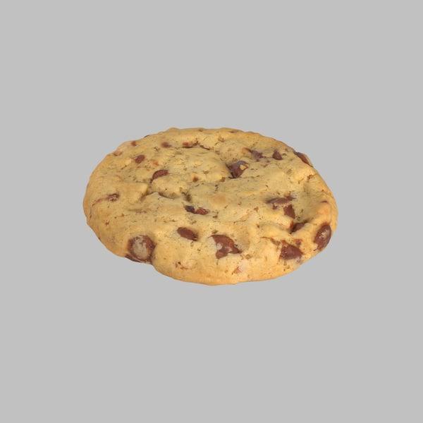 3d cookie chocolate model