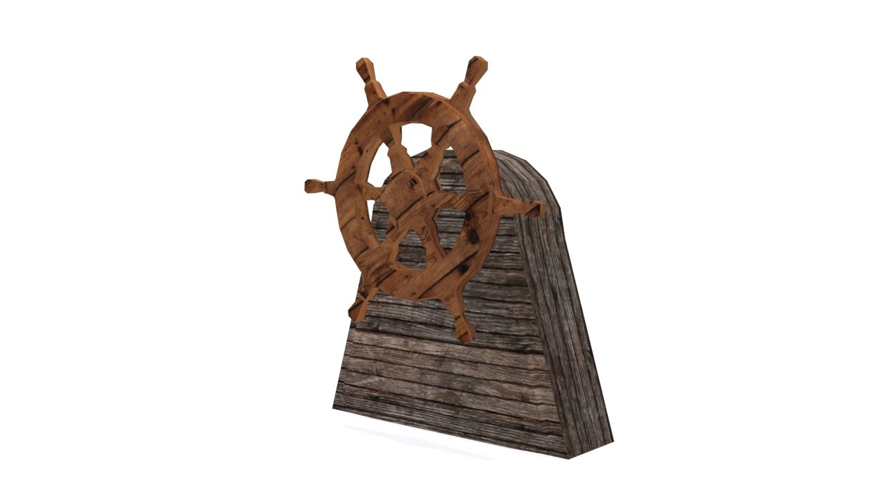 3d model ship steering