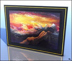 free original painting 3d model