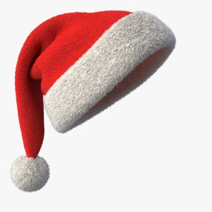 3d model of realistic santa claus hat