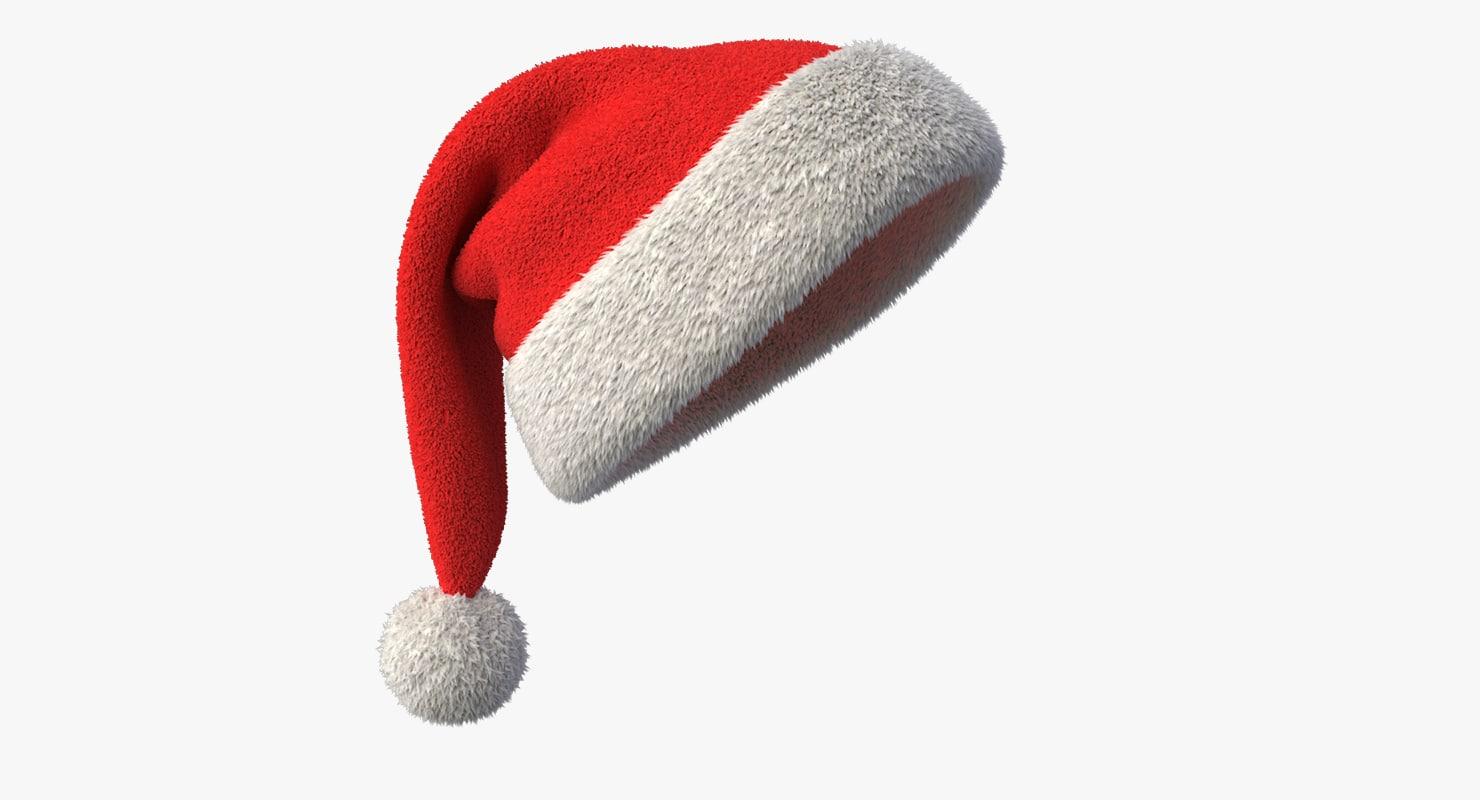 3d model of realistic santa claus hat