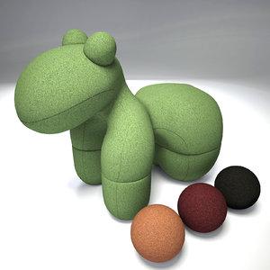 3d model eero aarnio pony