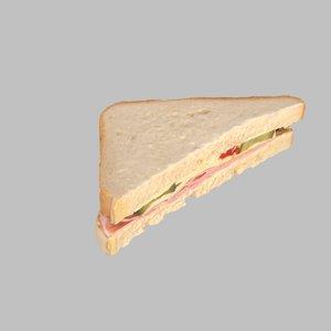 ham cheese sandwich 3d model