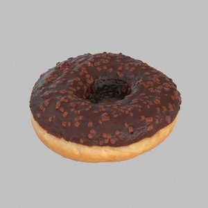 donut chocolate 3d max
