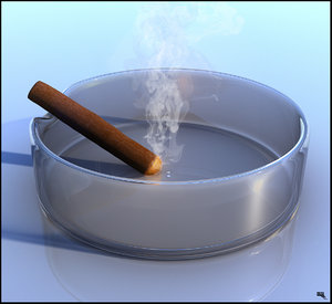 free ashtray smoke 3d model