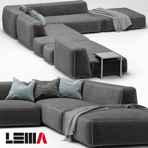 lemamobili cloud sofa 3d model
