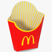 3d model of french fry box mcdonalds