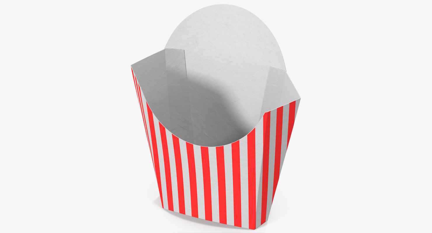 French Fry Box 3 3d Max