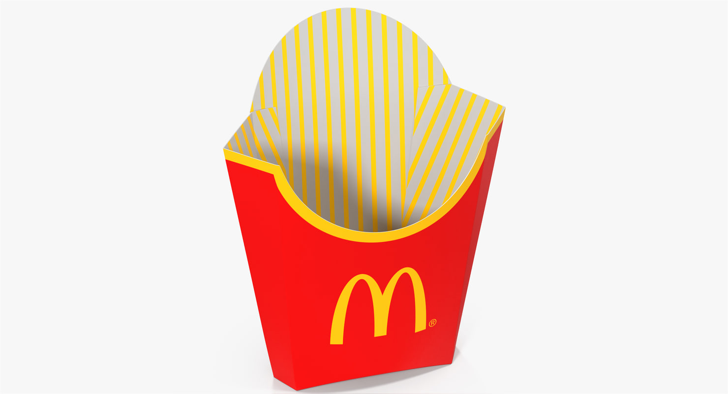model of french fry box mcdonalds