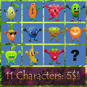 fruits characters 3d ma